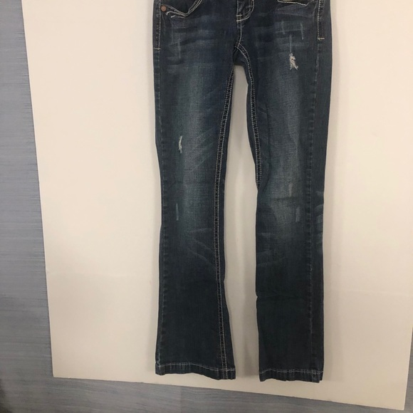 Women's Hydraulic Super Low Metro Distressed Jeans